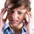 pretty brunette getting a headache with hands on head stock photo © wavebreak_media