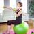 女性 · 座って · フィットネス · ボール · 小さな · 美人 - ストックフォト © wavebreak_media
