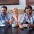colleagues working with smartphones stock photo © wavebreak_media