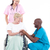 doktorlar · hasta · tekerlek · sandalye · grup · ofis - stok fotoğraf © wavebreak_media