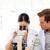 Öğrenciler · bilim · çalışma · mikroskop · çekici · kadın - stok fotoğraf © wavebreak_media