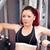 geconcentreerde · atletisch · vrouw · bank · druk · fitness - stockfoto © wavebreak_media