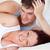portret · lachend · zwangere · vrouw · bed · echtgenoot · home - stockfoto © wavebreak_media