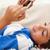 kicsi · fiú · szőnyeg · játszik · mobiltelefon · számítógép - stock fotó © wavebreak_media