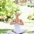 jeune · femme · séance · parc · yoga · poste · beauté - photo stock © wavebreak_media