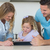 Family using tablet PC at table stock photo © wavebreak_media
