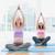 happy pregnant women in yoga class sitting in lotus pose stock photo © wavebreak_media
