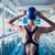 genç · kadın · ayakta · yüzme · havuzu · güzel · su · vücut - stok fotoğraf © wavebreak_media