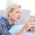 femme · ligne · bancaires · portable · vue · souris - photo stock © wavebreak_media