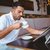 homem · jornal · leitura · café - foto stock © wavebreak_media