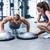 crossfit · kobieta · fitness · pompek · wykonywania · siłowni · treningu - zdjęcia stock © wavebreak_media