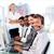 charismatische · manager · leidend · vertegenwoordiger · team · kantoor - stockfoto © wavebreak_media