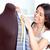 izzó · fiatal · nő · dolgozik · ruházat · konyha · otthon - stock fotó © wavebreak_media