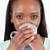 женщину · питьевой · кофе · белый · счастливым - Сток-фото © wavebreak_media
