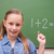 iskolás · lány · kéz · iskolatábla · lány · iskola · diák - stock fotó © wavebreak_media