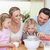 family preparing dough together stock photo © wavebreak_media