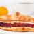 koffiekopje · achter · croissant · tabel · voedsel · koffie - stockfoto © wavebreak_media