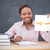 happy teacher holding page showing help wanted stock photo © wavebreak_media