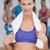 femminile · bottiglia · d'acqua · fitness · classe · ritratto - foto d'archivio © wavebreak_media