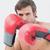 genç · boksör · bakıyor · kamera · eller · portre - stok fotoğraf © wavebreak_media