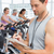 trener · pracujących · na · zewnątrz · klasy · portret · siłowni - zdjęcia stock © wavebreak_media