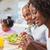mutlu · aile · yeme · salata · ev · mutfak · sağlıklı · beslenme - stok fotoğraf © wavebreak_media
