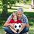 отцом · сына · парка · футбола · Футбол · ребенка · портрет - Сток-фото © wavebreak_media