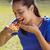 kobieta · jedzenie · pizza · widoku · szczęśliwy - zdjęcia stock © wavebreak_media