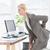 empresária · dor · nas · costas · jovem · atraente · escritório · mulher - foto stock © wavebreak_media
