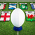 composite image of rugby ball stock photo © wavebreak_media