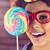 jonge · vrouw · lolly · jonge · dame · kleurrijk - stockfoto © wavebreak_media