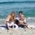 mutlu · aile · oynama · kum · plaj · gökyüzü · su - stok fotoğraf © wavebreak_media