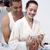 gelukkig · paar · badkamer · naar · zwangerschaptest - stockfoto © wavebreak_media