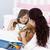 moeder · ziek · dochter · spelen · stethoscoop · bed - stockfoto © wavebreak_media
