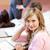 ernstig · studenten · luisteren · leraar · universiteit · gehoorzaal - stockfoto © wavebreak_media