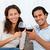 atraente · casal · óculos · jovem · amoroso · potável - foto stock © wavebreak_media