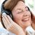 シニア · 女性 · 音楽を聴く · 白 · ファッション · 電話 - ストックフォト © wavebreak_media