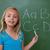 lächelnd · Schülerin · Briefe · Tafel · Schule - stock foto © wavebreak_media