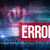 error against blue technology design with binary code stock photo © wavebreak_media