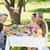 uitgebreide · familie · genieten · maaltijd · tuin · familie · kinderen - stockfoto © wavebreak_media
