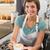 güzel · barista · teklif · fincan · kahve · gülen - stok fotoğraf © wavebreak_media