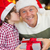 Son kissing his father after receiving a christmas gift stock photo © wavebreak_media