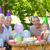 幸せな家族 · 子供 · ピクニック · 幸せ · お誕生日おめでとうございます · パーティ - ストックフォト © wavebreak_media
