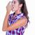 pretty brunette woman using asthma inhaler stock photo © wavebreak_media