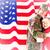 asker · bayrak · siluet · arka · plan · güvenlik · özgürlük - stok fotoğraf © wavebreak_media
