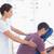 男 · 戻る · マッサージ · 医療 · オフィス · 女性 - ストックフォト © wavebreak_media