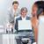 zagęszczony · biznesmen · pracy · komputera · biuro · widok · z · boku - zdjęcia stock © wavebreak_media
