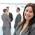 bastante · mujer · de · negocios · posando · equipo · de · trabajo · negocios - foto stock © wavebreak_media