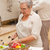 idős · pár · főzés · konyha · nő · szeretet · otthon - stock fotó © wavebreak_media