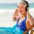 Ruhestand · Frau · Musik · hören · Strand · Wasser · glücklich - stock foto © wavebreak_media